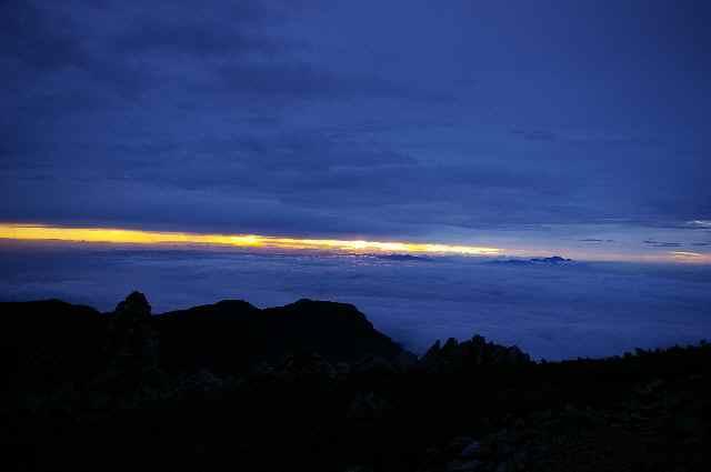 燕岳から常念岳 2009・08 (2)