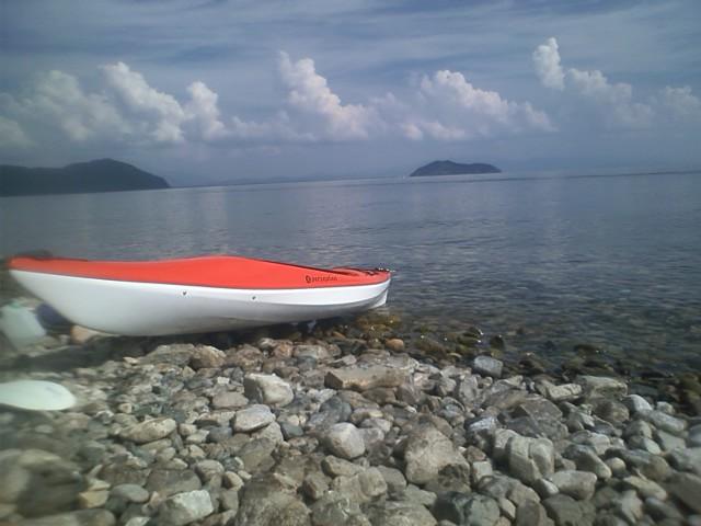 琵琶湖でユニセラ