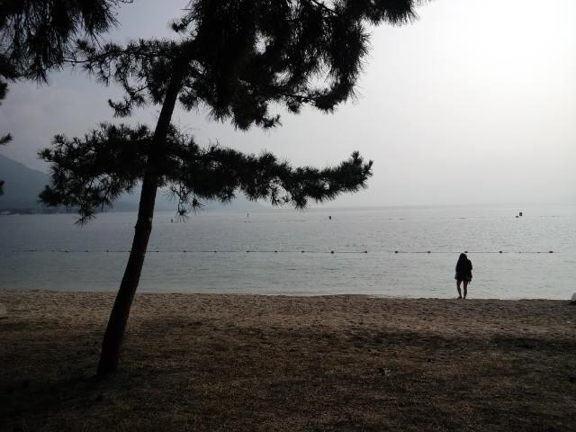 琵琶湖初横断(近江八幡休暇村→近江舞子中浜)
